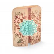 Flower Lattice Gatefold Card
