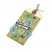 Blooming Birthday Tag
