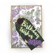 Birthday Wishes Succulent Gift Wrap