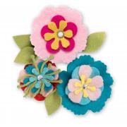 Felt Flower Pins #2
