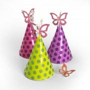 Butterfly Party Hat Decorations