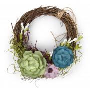 Simply Succulents Wreath