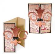 Fleur de Lis Gate Fold Card