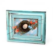 Bird Nest Home Décor Frame