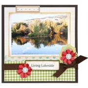 Living Lakeside Scrapbook Page