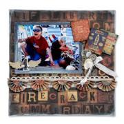 Firecracker Scrapbook Page
