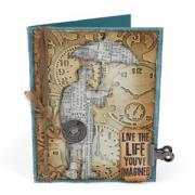 Embossed Umbrella Man Card
