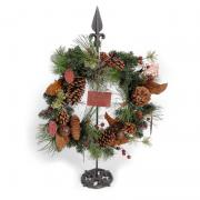 Season's Greetings Winter Wreath