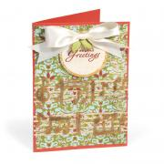 Holiday Greetings Music Notes Card