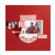 Hugs & Kisses Valentine Scrapbook Page