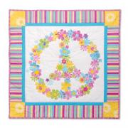 Flower Power Peace Sign Wall Hanging