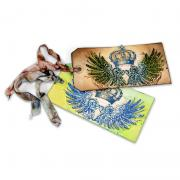 Crown & Tattered Wings Tags