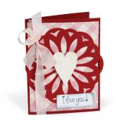 I Love You Doily Card