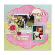 Sweet Forever Friends Scrapbook Page