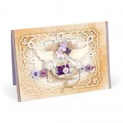 Embossed Scallop Lace Card