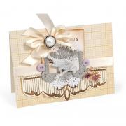 Embossed Scallop Edging Card