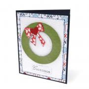 Wreath Greetings Card