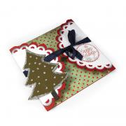 Happy Holidays Scallop Tri-Fold Card