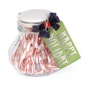 Happy Holidays Candy Jar