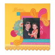 Happy Moments Scrapbook Page