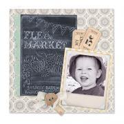 Flea Market Scrapbook Page