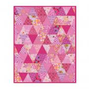 Pyramid of Triangles Cradle Blanket