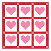 Passionate About Pink Hearts Wall Hanging