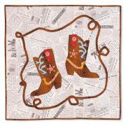 Dancing Cowboy Boots Wall Hanging