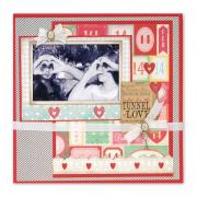 Tunnel of Love Scrapbook Page