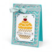 Cupcake Birthday Wishes Card