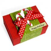Candy Canes Happy Holidays Gift Box