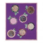Layered Batik Scallop Flowers Wall Hanging