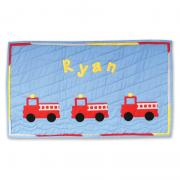 Ryan's Fire Trucks Wall Hanging
