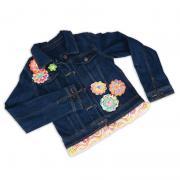 Embellished Flower & Fringe Jacket