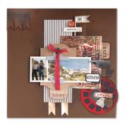 Observations & Destinations Scrapbook Page