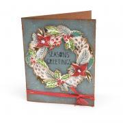 Season's Greetings Wreath Card