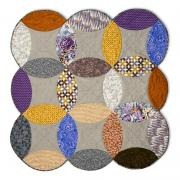 Full Melon Double Wedding Ring Quilt