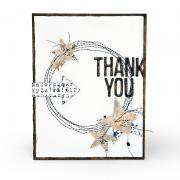Thank You Stitched Card