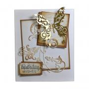Birthday Wishes Butterfly Card #2