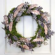 Metallic Feather Wreath