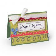 Happy Holidays Scallops and Swirls Card