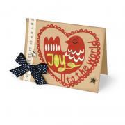 Joy to the World Bird in Heart Card
