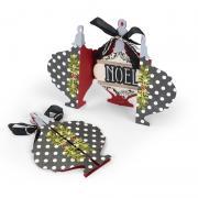 Noel Ornament & Holly Fold-a-Long Card #2