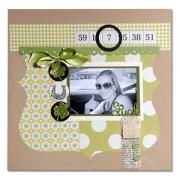 Lucky You Scrapbook Page