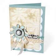 Tattered Flowers Follow Your Heart Card