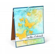 Hello Friend Butterfly Card