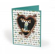 Wood U Be Mine Card