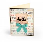 Hello Label Card