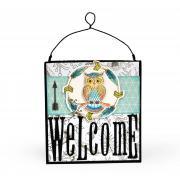Welcome Owl Décor