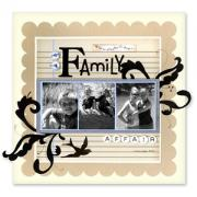 Family Affair Scrapbook Page